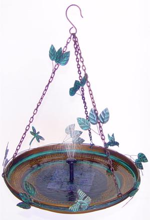 An Ultimate Hanging Bird Bath Unique Birdhouse Boutique