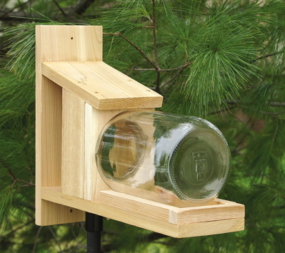 Cedar Amp Glass Jar Squirrel Feeder Unique Birdhouse Boutique