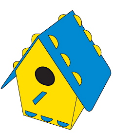 Recycled Plastic Birdhouse Kits in Fun Colors
