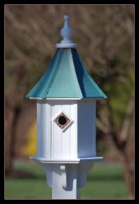 Vinylwith Copper Roof bird houses