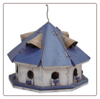 Blue Roof Motel Birdhouse