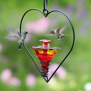 Blown Glass Hummingbird feeders by Parasol