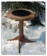 Classic Cedar Heated Bird Bath