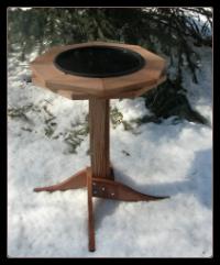 Classic Cedar Heated Bird Bath