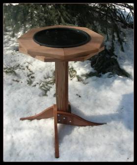 classic cedar heated birdbath