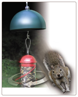 Twirl-A-Squirrel Renders feeders squirrel-proof