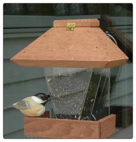 canopy window bird feeder adds simplistic charm