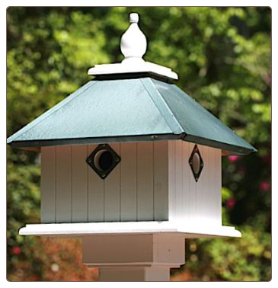 another vinyl beauty resembling a wooden birdhouse