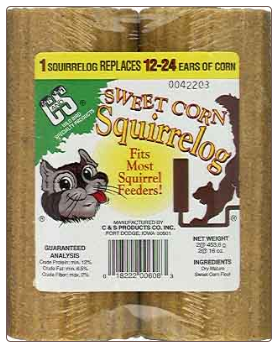 long lasting squirrel logs are perfecr for squirrel feeders