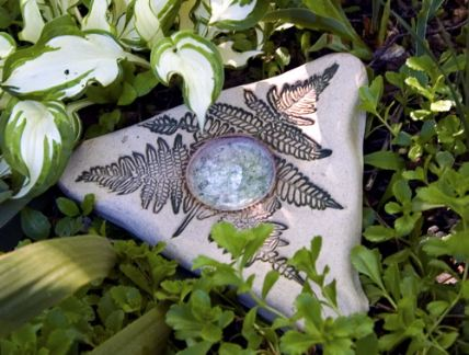 stoneware butterfly puddler absorbs water for butterflies to rest on