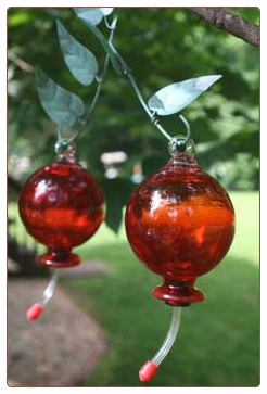 double cherries is dual tube style hummingbird feeder for larger capacities