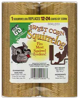 try corn logs with your squirrel feeders