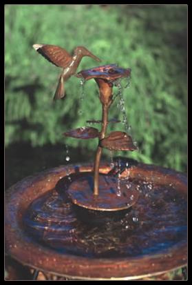 Because Copper Hummingbird Bird Bath Dripper