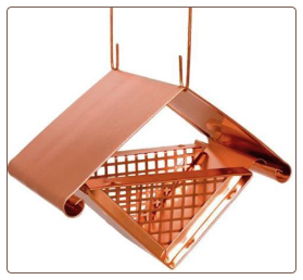 solid copper architectural peanut bird feeder