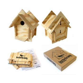 wooden bird house kit requires no nails or glue