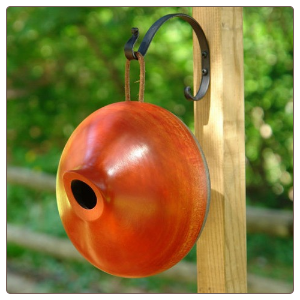 these hand crafted wood birdhouses are made from mango trees