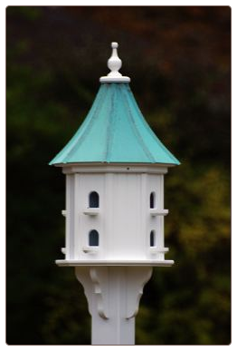 Copper Roof Vinyl Decorative Bird Houses wil last a lifetime.
