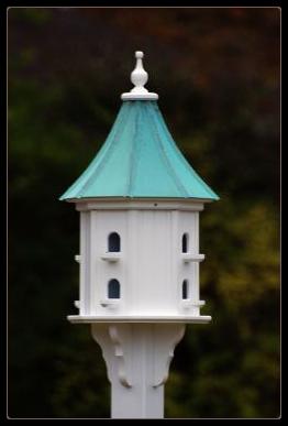 Copper Roof Vinyl Decorative Bird Houses wil last a lifetime.
