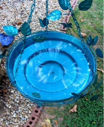 multi-level walk-in hanging bird bath