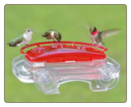 another window hummingbird feeder can serve as a seed feeder by removing the lid