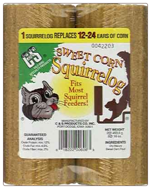 Long Lasting Corn Logs for Squirrel Feeders