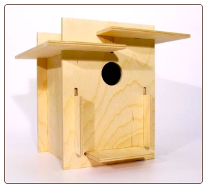 innovative birdhouse kits with sleek design require no tools or glue
