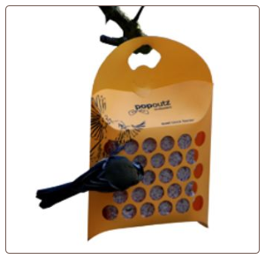 Offer your own nesting materials in this cool recylced plastic suet feeder