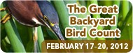 Details for participation in the Great Backyard Bird Count 2012