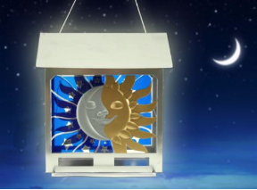 The Soltice Wild Bird Feeder is a large capacity, hopper feeder with cool style!