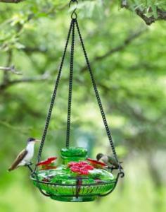 Hndcrafted Blown Glass Hummingbird Feeders outlast plastic ones any day!