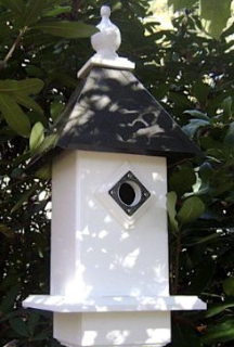 These Vinyl Bluebird Houses are approved by the North American Bluebird Society (NABS)
