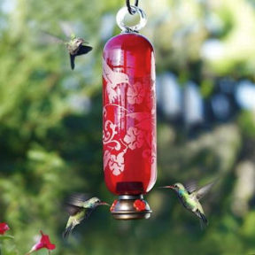 I'll take blown glass or ceramic hummingbird feeders over plastic any day!