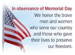 giving thanks on memorial day to those who served our nation