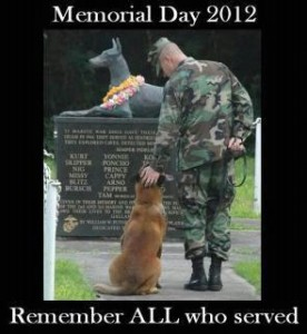 Four-legged heroes of war are remembered too on Memorial Day