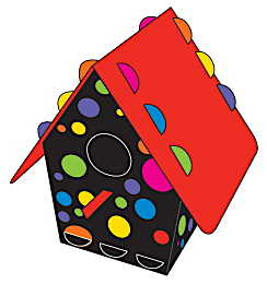 Dots design birdhouse kit by Tweet Tweet Homes