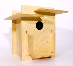 Super mod birdhouse kits like Box for the Birds require no nails, glue, or screws