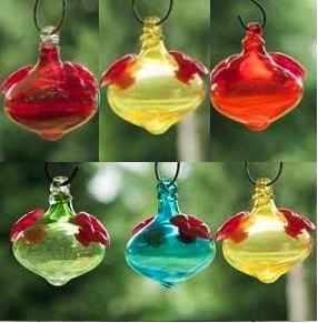 Set of 3 Mini-Kin bird brain hummingbird feeders are perfect for busy farewell migration