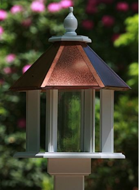 he called to tell me his copper bird feeder was wood!