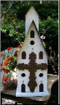 Triple Compartment Church Decorative Birdhouse
