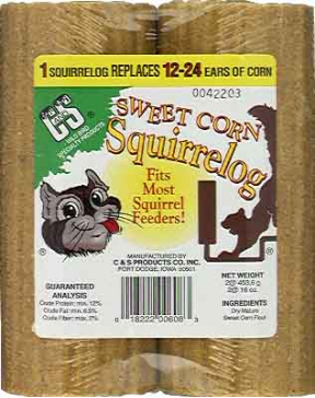 Compressed Corn Squirrel Logs are a great alternative for squirrel feeders
