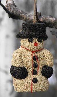Large Snowman Seed Ornament is perfect as holiday finch feeders