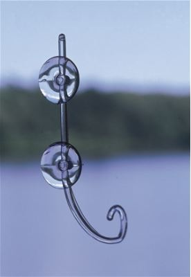Innovative hanger for creating window bird feeders