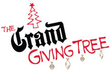 Hang ornaments on The Giving Tree to raise money for three deserving charities