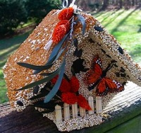 Encourage nesting in your edible birdhouse once the seed'd gone
