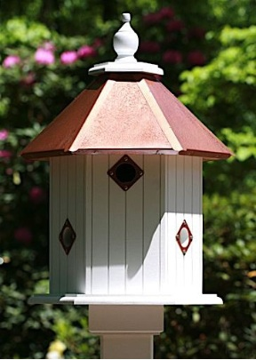 Stunning and durable, VinylPVC Dovecote Birdhouses will grace the landscape with simple elegance