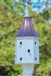 Stately 12 Room Copper Roof Birdhouse
