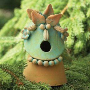 Garden Friends are among some of the cutest decorative bird houses, totally functional too!