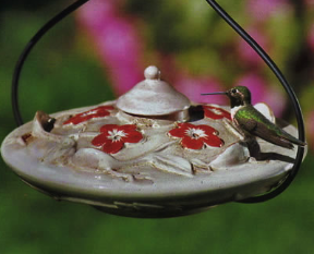 Because this hangs from a sturdy window hook, we'd definitely call it a window hummingbird feeder
