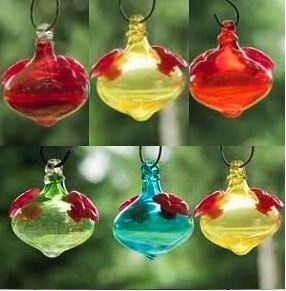 Cute MinI-Kins are birdbrain hummingbird feeders that come in a set of three.