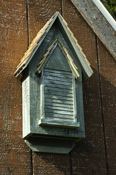 Handcrafted cypress bat house